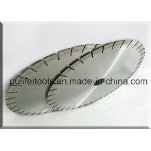 Silberner Laser geschweißter nasser Ausschnitt-Granit-Kreissägeblatt