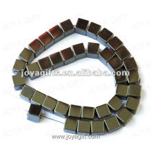 8MM Loose Magnetic Hematite Square Beads 16""