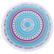 Good Quality for Roundie Beach Towel Custom Woven Digital Printing Circle Beach Towels export to Brazil Factory