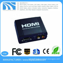VGA TO HDMI Converter black metal box1080P VGA to HDMI converter VGA+R/L Audio to HDMI converter Box