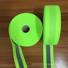tissu réfléchissant cousant sur la bande pour le vêtement de travail élastique réfléchissant