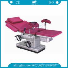 AG-C102D-2 manuelle hydraulische Geburtshilfe Stuhl Bett Geburtshilfe Untersuchungstisch