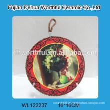 Suporte de pote de trivet de cerâmica heatproof com corda para a decoração da tabela