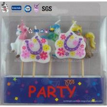 Vela de cumpleaños con forma de pequeños animales mezclados