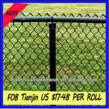 9 gauge verzinkt oder PVC beschichtet Kettenglied Zaun
