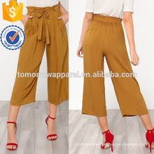 Self Tie Wide Leg Pants Manufacture Wholesale Fashion Women Apparel (TA3075P)