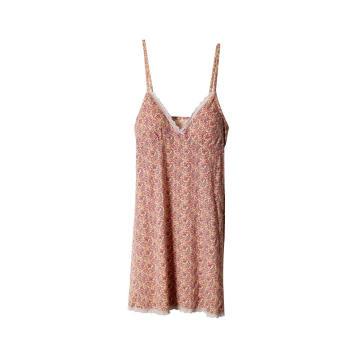 Женское нижнее белье, пижамы, кружевная ночная рубашка с v-образным вырезом и принтом