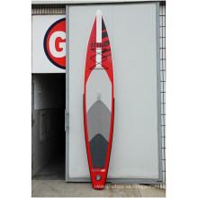 Caliente-venta de tabla de Surf inflable rojo y producto de alta calidad para el cliente
