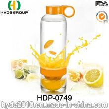 Precio 800ml botella de agua de infusión de limón, BPA gratis botella de agua de infusión Tritan/PC fruta (HDP-0749)
