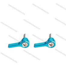 M4 CNC Wing Knob Thumb Tornillos y pernos de aluminio