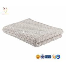 Cobertor de caxemira de cabo sólido bebê / jogar