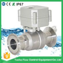 Válvula de bola sanitaria del control eléctrico del flujo de 2 maneras con CE (T25-S2-CQ)