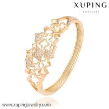 51284-xuping роскошные браслеты с 18k золотой цвет и CZ камень
