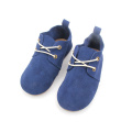 Multicolor Rubber Sole Children Leather Oxford Shoes