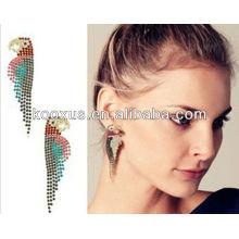 2014 Moda al por mayor Alibaba oro plateado plomo y níquel libre pendientes de encanto de joyería