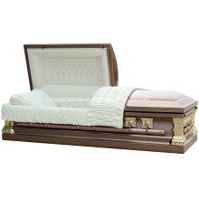 Cercueil de Jeff Coppertone coin carré en acier inoxydable