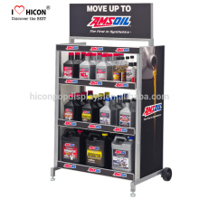 Win More Attractions With Your Brand Logo On Floor Standing Pegboard Oil Spray Paint Metal Display Rack