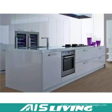 Глянцевый кухонный гарнитур с кухонным островом (АИС-K251)