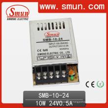 Fonte de alimentação ultra fina do interruptor do caso plástico de 10W 24V 0.4A