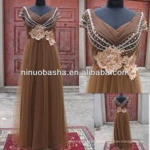 NW-467 Beaded Top com Beaded Venice Lace Flower vestido de noiva Tulle