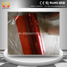 roter PET-Film Glasdekorationsfolie