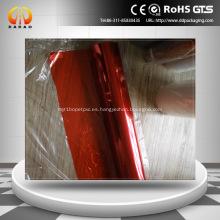 película de PET roja decoración de vidrio película