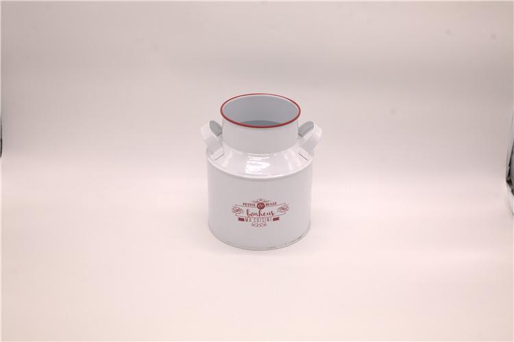 White milk pot metal galvanized steel