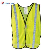 Oi-vis 3 M Ajustável Reflective Vest, Dia e Noite de Alta Visibilidade Reflex Segurança Colete Amarelo para Correr / Ciclismo / Caminhada