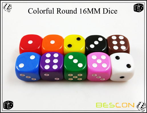 Colorful Round 16MM Dice