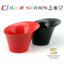 Nuevos productos calientes inclinados de cerámica del cuenco del perro de la fruta roja para 2015