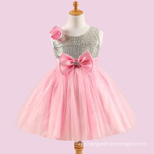 Flower Baby Girl Child Long Hand Made Clothing Party Dress