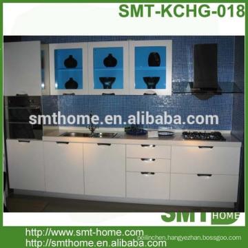 cheap modern modular customized melamine kitchen cabinet