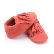 Atacado Pure Color Soft Mocassins Baby Shoes Leather