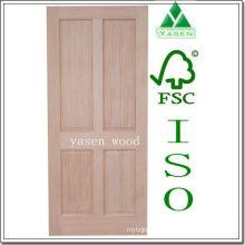 Porta de madeira do painel do pinho 4 da irradiação da fábrica