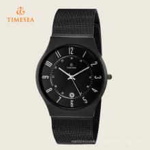 Relógios análogos dos homens com a faixa de aço inoxidável 72296