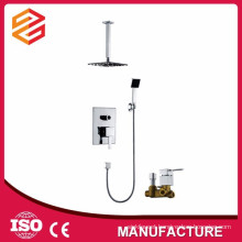 square rain shower head set in wall new shower set