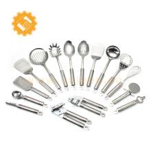 Hochwertiges Küchengeschirrset aus Edelstahl / Kochwerkzeug 16-teiliges Set