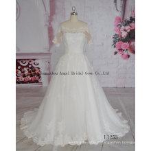 Vestido de baile vestidos de noiva Real Pictures of Wedding Dress