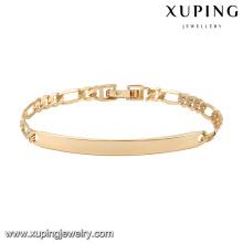 74609 xuping novo design 18k pulseira de ouro banhado a ouro
