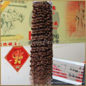 """Prix 6a Grade Bundles Cheveux vierges brésiliens 22 """"Clip vague profonde dans l'extension de cheveux"""