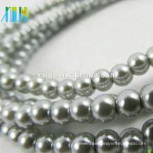 3mm glass pearl beads mother pearl gradually necklace round DIY loose gemstone beads