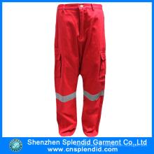 Novo estilo de alta qualidade de algodão segurança reflexiva Mens trabalho calças