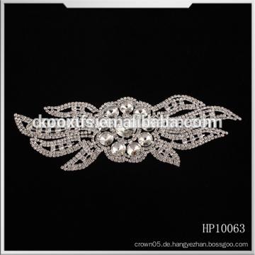 Heißer Verkauf späteste Kristallrhinestone applique wulstige Brautordnung für Hochzeitskleider China-Hersteller