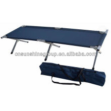 Folding military camping bed, army cot with 600D carrying bag