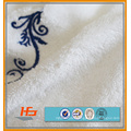 Best Quality Embroidery 21S Snow White Cotton Barh Towel