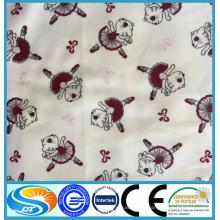 Algodón 20 * 12 40 * 42 algodón impreso cepillado al por mayor impreso doble cara tela de franela