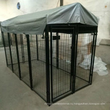 производитель оптовая продажа роскошные стальной каркас дешевые собака дом с крыши