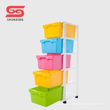 shunxing plástico PP ropa de bebé cajón con rueda