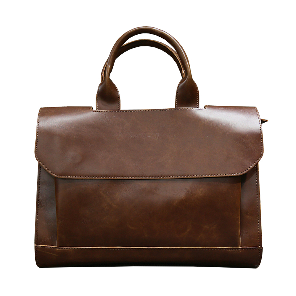 Men PU Leather Tote Bag