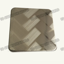304 Stainless Steel Ket010 Etched Sheet for Decoration Materials